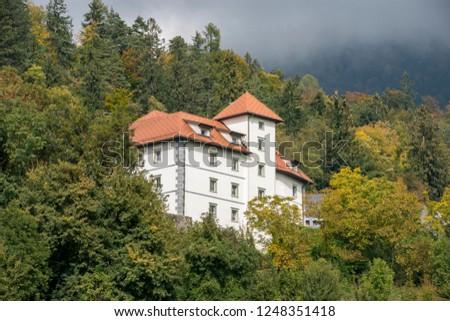 Medieval stone castle #1248351418