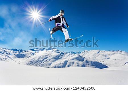 free rider in fresh snow #1248452500