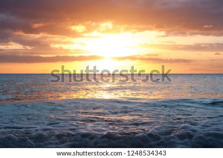 Sunset on the pacific coast #1248534343