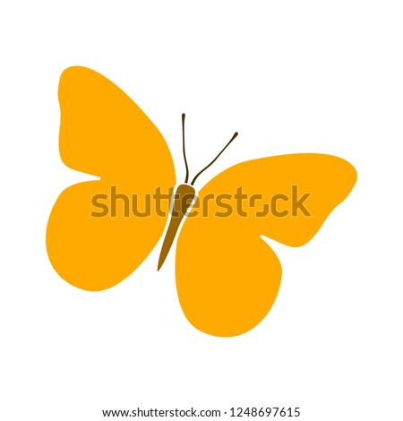 butterfly icon - Colorful Butterfly logo isolated, Beautiful Butterfly illustration