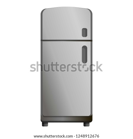 Retro fridge icon. Cartoon of retro fridge vector icon for web design isolated on white background #1248912676