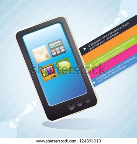 All the applications on your smart phone blue background #124896010