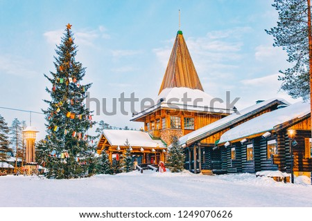 Santa Claus Office at Santa Claus Village in Rovaniemi in Lapland in Finland. #1249070626