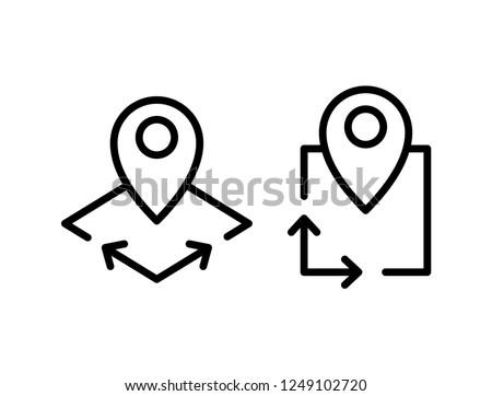 Area icon, vector illustration Royalty-Free Stock Photo #1249102720
