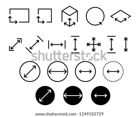 Area icon, vector illustration Royalty-Free Stock Photo #1249102729