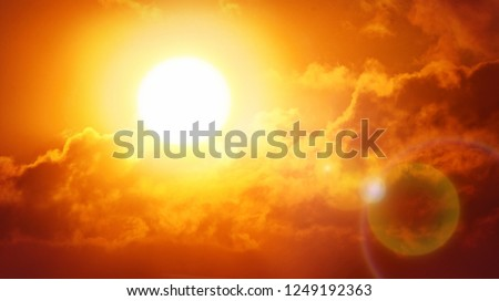 Heatwave hot sun. Climate Change. Global Warming. #1249192363