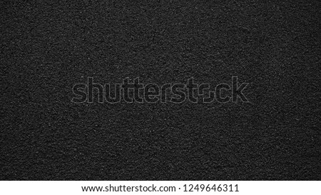 Surface grunge rough of asphalt, Tarmac grey grainy road, Texture Background, Top view #1249646311