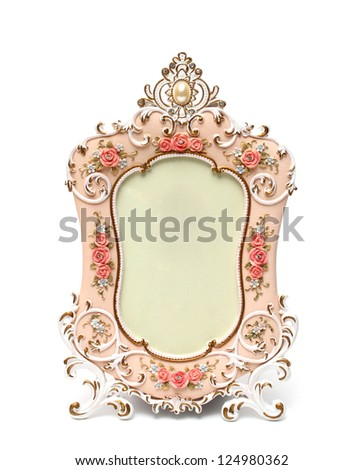 photo frame isolated white background