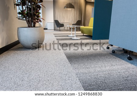 Modern Business Interior, Colorful but Design Royalty-Free Stock Photo #1249868830