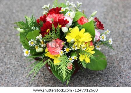 a flower arrangement #1249912660