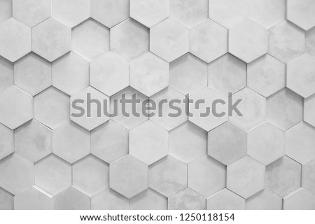 wall background. background texture. wall with textured hexagons. the diamonds on the wall. white wall