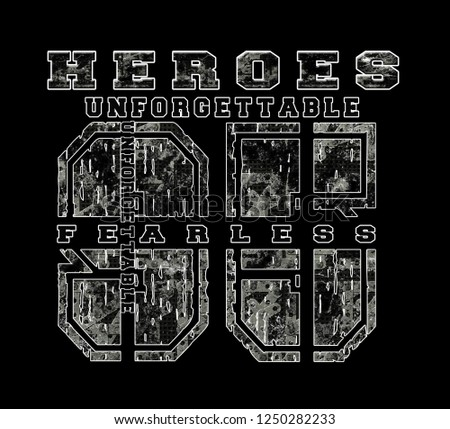 beautiful font slogan heroes tumbled efek grunge