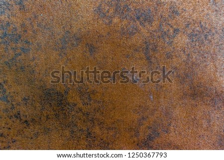 Closeup of Brown fabric cloth background texture #1250367793