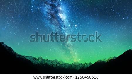 Milky Way in New zealand Royalty-Free Stock Photo #1250460616