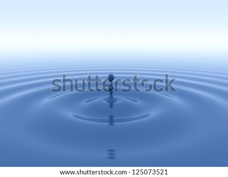 Water drop and ripples #125073521