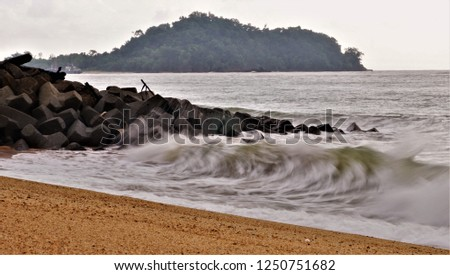 Rough sea during the monsoon #1250751682