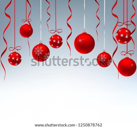 Christmas card with decor #1250878762
