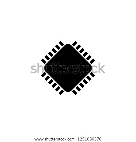 processor vector icon. processor sign on white background. processor icon for web and app #1251030370