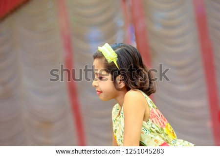 Cute Indian Child Girl #1251045283