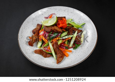 Thai salad with meat and vegetables #1251208924