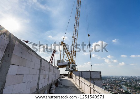 tower crane construction site #1251540571
