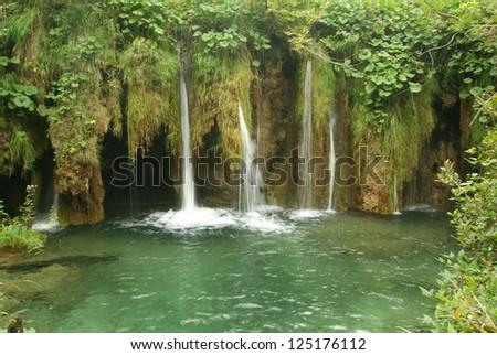 The lake national park of Plivice on Croatia #125176112