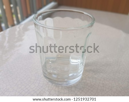 one empty clean glass #1251932701
