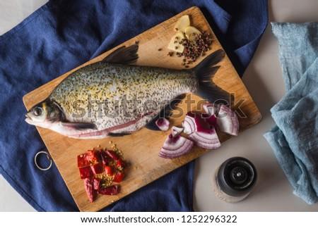 Fresh Wuchang fish and seasonings #1252296322