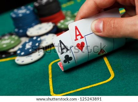 Poker Aces pair Royalty-Free Stock Photo #125243891
