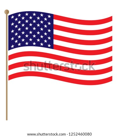 United States flowing flag graphic design #1252460080