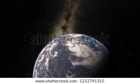 Planet Earth from space 3D illustration (Elements of this image furnished by NASA) #1252741315