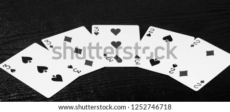 Black and white card game poker hand #1252746718