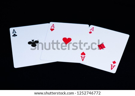 Playing cards ace deck #1252746772