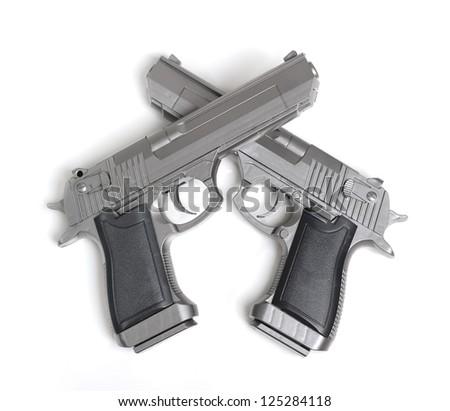 Pistol isolated on white background #125284118