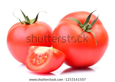 Tomatoes on a white background #1253161507