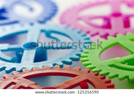five gears of some colors