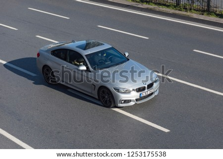 ISTANBUL/TURKEY - DECEMBER 3, 2018: BMW 320 is a range of executive cars manufactured by German automaker BMW in various engine and body configurations. #1253175538