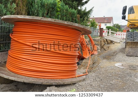 Broadband cable and construction site #1253309437