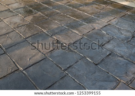 Stamp concrete texture pattern and background, for outdoor floor finishing. #1253399155