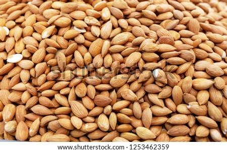 Raw fresh almond, background #1253462359