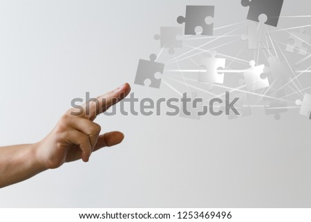 puzzle choice with finger #1253469496