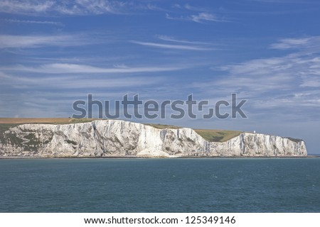 The white cliffs of dover from the sea #125349146