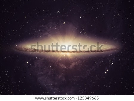 Incredibly beautiful galaxy somewhere in deep space. Elements of this image furnished by NASA #125349665