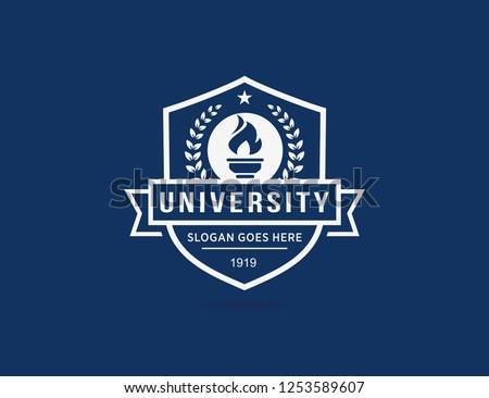University logo template Royalty-Free Stock Photo #1253589607