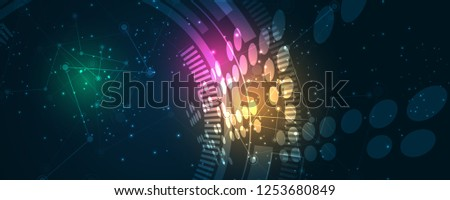 Abstract technology background Hi-tech communication concept innovation background vector illustration  #1253680849