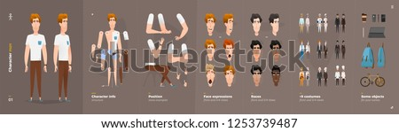 Cartoon character animation set for your motion design Royalty-Free Stock Photo #1253739487