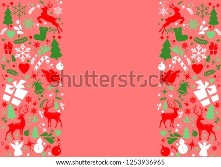 Merry Christmas and New Year decorations elements seamless pattern border, Christmas backgrounds and wrapping paper. Vector file #1253936965