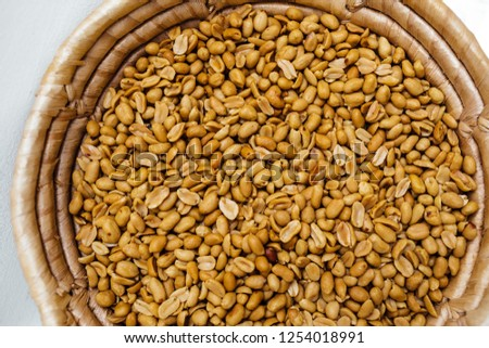 peanuts for background. peanuts nuts close up. #1254018991