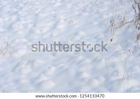 background of fresh snow texture #1254110470
