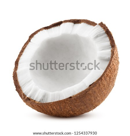 coconut, isolated on white background, full depth of field #1254337930
